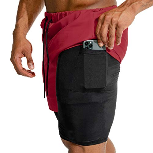 Aoogo Herren Sportswear Unterhose Boxershorts Compression Shorts Hosen Workout Fitness Sport Shorts Herren Badeshor Freizeit Short Badeshorts