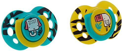Tommee Tippee Chupete Bebés Fun, Diseño Simétrico y Ortodóntico, Sin BPA, 6 a 18 Meses, 2 Unidades