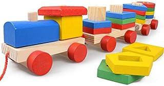 لعبة قطار مونتيسوري المكدس والهندسي