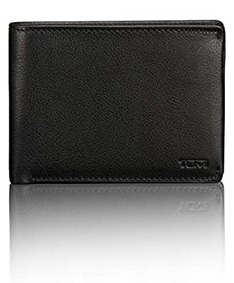TUMI - Nassau Double Billfold Wallet with RFID ID Lock for Men - Black Texture