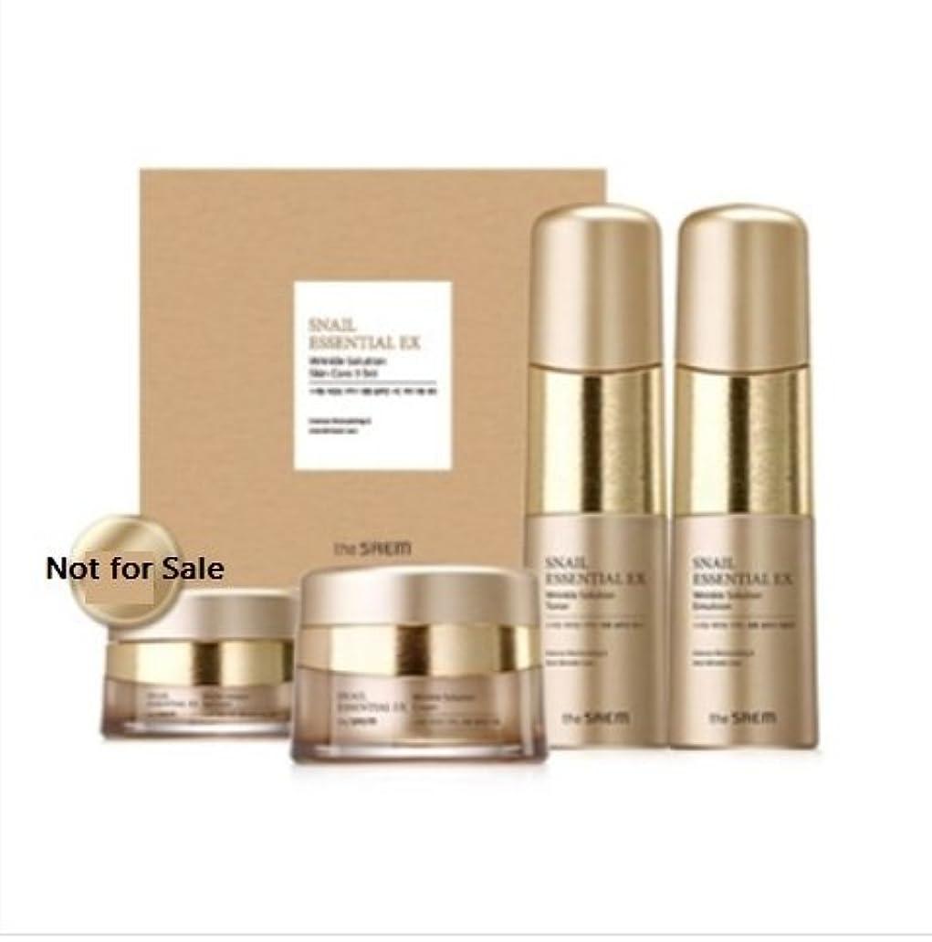 シャーク水素優先[ザセム] The Saem [スネイル エッセンシャル EXリンクルソリューション スキンケア 3種セット] (Snail Essential EX-Wrinkle Solution Skin Care 3Set) [並行輸入品]