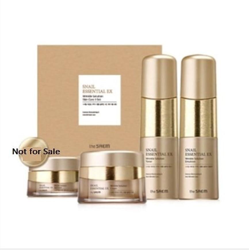 電話をかける考慮分注する[ザセム] The Saem [スネイル エッセンシャル EXリンクルソリューション スキンケア 3種セット] (Snail Essential EX-Wrinkle Solution Skin Care 3Set) [並行輸入品]