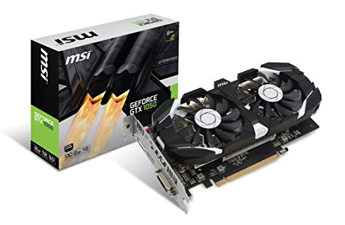 MSI GeForce GTX 1050 2GT OC 2GB Nvidia GDDR5 1x HDMI, 1x DP, 1x DL-DVI-D, 2 Slot Afterburner OC, Nvidia G-Sync, Grafikkarte