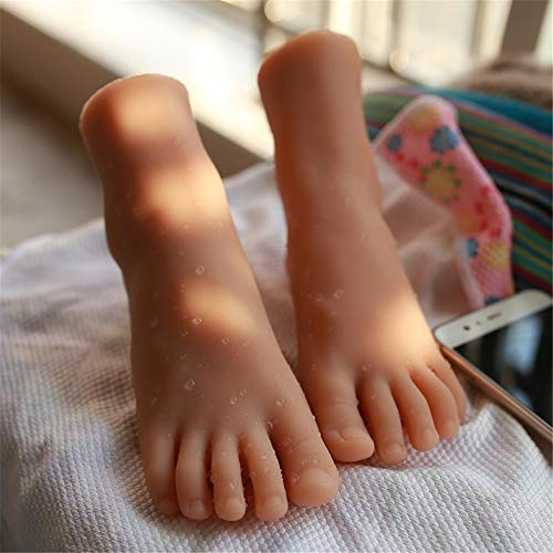 HMNS 1 Paar Silikon Mannequin Fuß, Real Mädchen Simulation Fußformen Fußmodell Zur Ausstellung Sandale Schuh Socke Anzeige Kunstskizze Fußfetische