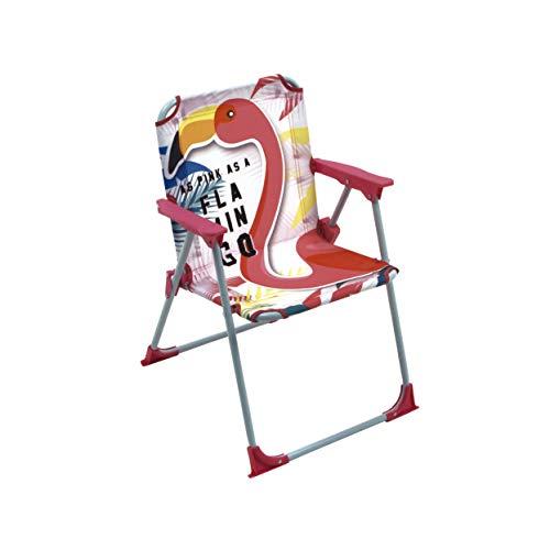Zaska klapstoel, metaal en stof, model Flamingo