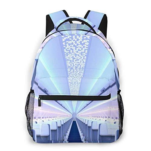 Yuanmeiju Fashion Unisex Backpack Super Long Beautiful Aircraft Cabin Bookbag Lightweight Laptop Bag for School Travel Outdoor Camping