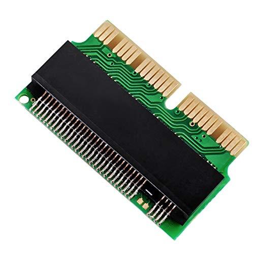 M.2 NVME SSD Convertir Adapter, 12+16pin M.2 NGFF M-Key SSD Convertir tarjeta para MacBook Air Pro Retina mediados 2013 2014 2015 2016 2017, NVME AHCI SSD Kit actualizado para A1465 A1466 A1398 A1502