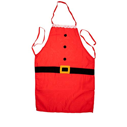 TRIXES Grembiule Natalizio - Grembiule da Cucina Babbo Natale, Stile Santa Claus