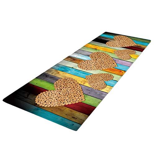 joyMerit Läufer Teppich 40 x 120 cm Küchenläufer Küchenteppich Teppichläufer waschbar rutschfest Bodenmatte Badvorleger - Stil-E, 60x180cm