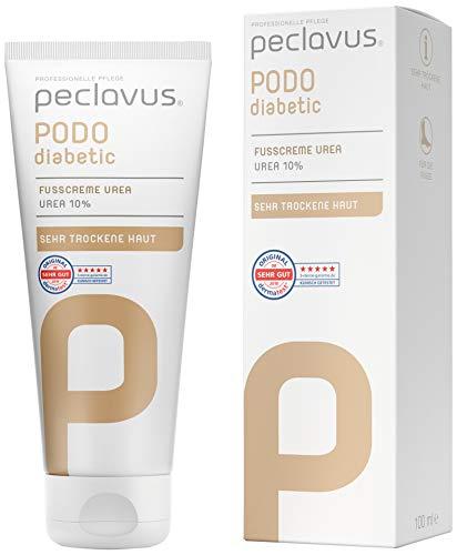 Peclavus PODOdiabetic Fußcreme Urea 10%, Fußpflege, sofortige Hilfe bei trockener Haut