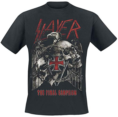 Slayer Final Campaign Eagle Männer T-Shirt schwarz XL 100% Baumwolle Band-Merch, Bands