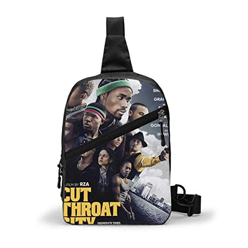 DJNGN Cut Throat City Unique Crossbody Small Camping Chest Bags Backpack Package For Women & Men