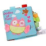 Jyuesi Baby Weiches Stoffbuch für Kleinkinder, Lern- und Lerntiere, Stoffbuch für Früherziehung, Bücher kreatives Geschenk H02
