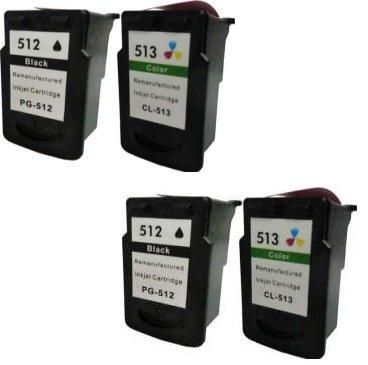 Prestige Cartridge 4 x PG-512 CL-513 Cartuchos de tinta, color y negro