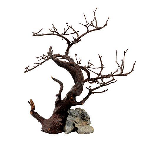 Askoll 281229 Ornament Wood&Rock Black 26X22X32