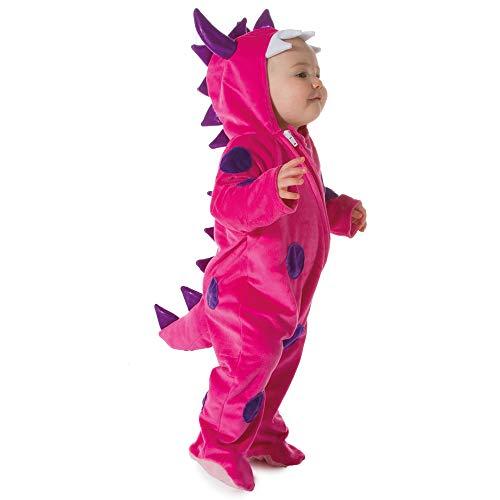 Pretend to Bee Grenouillère rose pour bébé avec pois violets, de haute qualité | 6–12 mois, unisexe – Déguisement de monstre pour enfant, parfait pour Halloween | Déguisement pour bébés