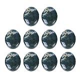 Exceart Cabochon-Edelstein-Perlen, oval, gewölbt, Achat, flache Rückseite, 13 x 18 mm, 10 Stück,...