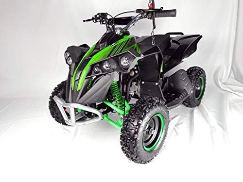 Mini quad de gasolina con motor de 49cc de 2 tiempos -ATV17 KING KONG. / Mini quad para niños de 5 a 12 años/miniquad infantil (VERDE)