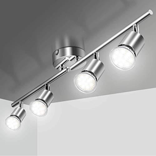 DAXGD Faretti LED da soffitto, 360 ° Ruotabili lampade da soffitto Illuminazione spot a LED, faretti a led in ferro, 12W Lampadine GU10, IP20