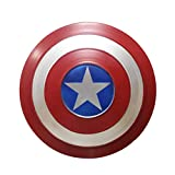 ABDOMINAL WHEEL Escudo del Capitán América Metal Apoyos de Mano de Superhéroe de Juegos de rol para Niños,Avengers Escudo de Pared Retro Creativo 32Cm