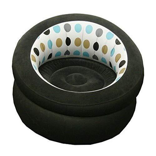 Chaise Gonflable pour canapé, Chaise Longue de Jeu intérieure, extérieur, Camping, Jardin, Design élégant à Pois en Tissu Doux Simple