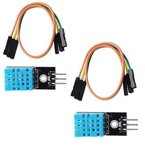 Modulo sensore di umidità per temperatura DHT11 (2 pezzi), compatibile con Arduino Raspberry Pi Micro: microbit bit ESP8266 ESP-12E ESP32