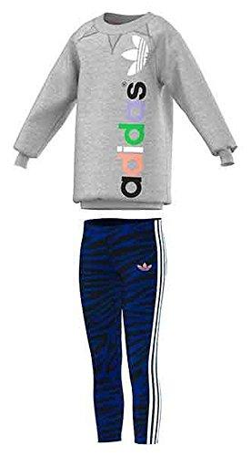 adidas - Trainingspakken - Meisjes Set - Grijs - 2-3Y