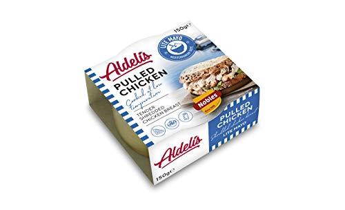 Aldelis Konservendose befüllt mit Zerpflückter Hähnchenbrust in Mayo Sauce Bereit zu Essen ideal für Salats und Sandwich-Ideen - Packung mit 12 x 150 gr