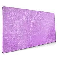 マウスパッド 大型 割れ目 大理石風 紫 背景 葉書ゲーミング デスクマット かわいい 防水性 耐久性 滑り止め 多機能 超大判 40cm×90cm おしゃれ