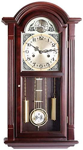 Wall Clock Artistieke decoratieve Houten Hangende Klok Retro Clock Mute wandklok Grote cijfers Non Ticking for thuiskantoor Club Decoration (Kleur: Wood, Size: 69x37x15cm) LOLDF1