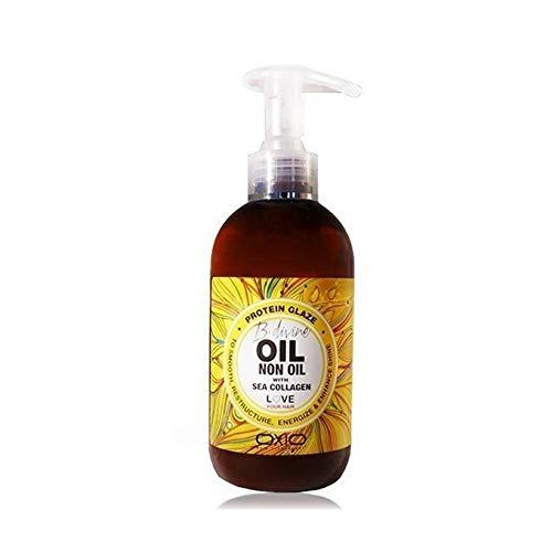 OXIO OIL NON OIL BDivine - Glazé Proteínico con Colágeno Marino que Proporciona Fijación y Control para unas Ondas y Rizos Definidos y Duraderos, Libre de Parabenos y Siliconas - 250ml