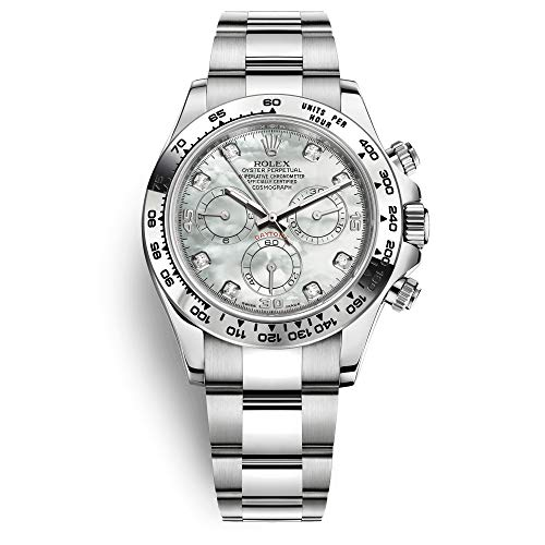 Rolex Daytona White Gold / 116509-0064 / White Mother of Pearl Diamond Dial