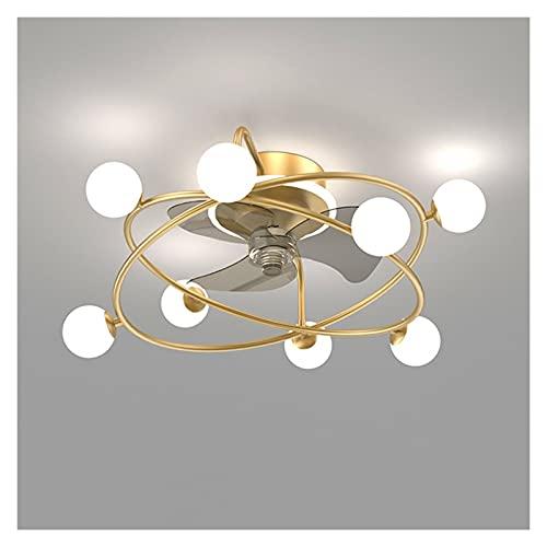 Lámpara de techo, lámpara de ventilador integrada, lámpara silenciosa con ventilador eléctrico, elegante, sencillo y moderno, lámpara de techo de la sala de dormitorio