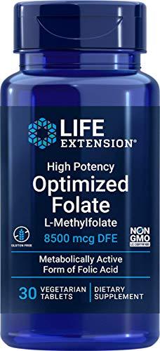 Life Extension 5000Mcg Alta Potenza Ottimizzata Folate 30 Capsule Vegetariane - 60 g