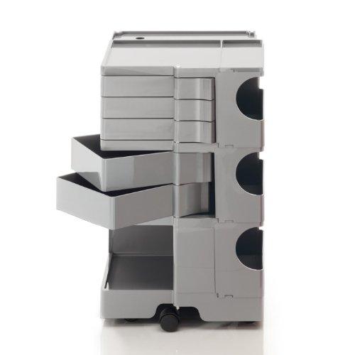 Boby M 35 Rollcontainer, aluminium 5 Schubkästen BxHxT 43x73,5x42cm