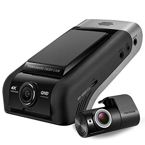 Thinkware U1000 4K-Kamera 2160p UHD Frontauto 2K QHD Heck-Dashcam-Ultra-High-Definition-Dash-Kamera mit Super-Nachtsicht, 64 GB SD-Karte, festverdrahtetem Kabel für die Installation-Android/iOS-App