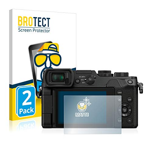 BROTECT 2X Entspiegelungs-Schutzfolie kompatibel mit Panasonic Lumix DMC-GX8 Bildschirmschutz-Folie Matt, Anti-Reflex, Anti-Fingerprint