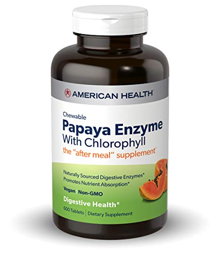 American Health Papaya Enzyme with Chlorophyll Chewable Tablets - 600 Count (200 Total Servings)