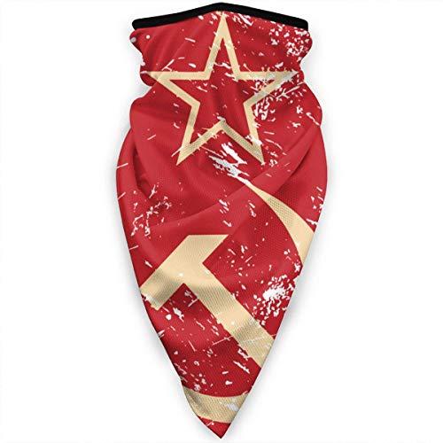 Duang Headwear Communisme Sovjet-Unie Retro Vlag 24X51Cm skiwerk Kleurrijke Vrouwen Bandanas Hals Gamas Warmer Winddichte sjaal Gezichtsbescherming Outdoor Multifunctionele sport