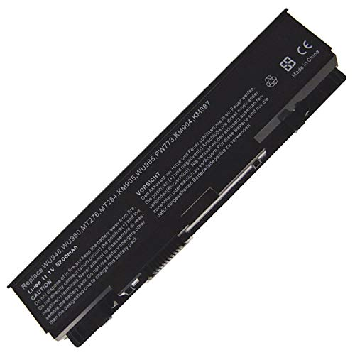 Hubei 11.1V 5200mAh PP39L WU946 Replacement Laptop Battery for Dell Studio 1535 1536 1537 1555 1557 1558 PP33L PW773 312-0701 312-0702 C313K KM904 KM958 MT264 A2990667