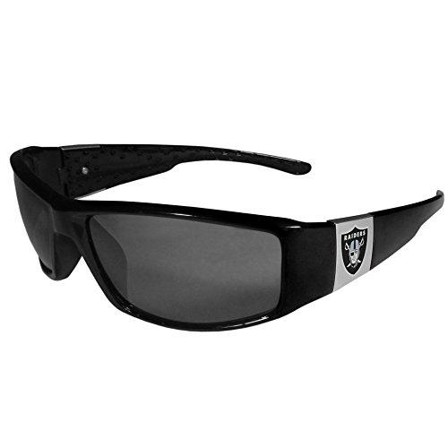 NFL Siskiyou Sports Fan Shop Las Vegas Raiders Chrome Wrap Sunglasses One Size Black