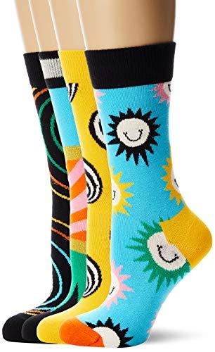 Happy Socks Damen Psychedelic Gift Box Socken, Mehrfarbig (Multicolour 100), 4/7 (Herstellergröße: 36-40) (4er Pack)
