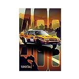 Poster mit Rennwagen, Opel Manta 400, Leinwand,