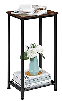 EKNITEY Nightstand/End Table Space Saving Side Table High and Narrow Entryway Table Telephone Table w/Storage Shelf for Living Room Bedroom and Office