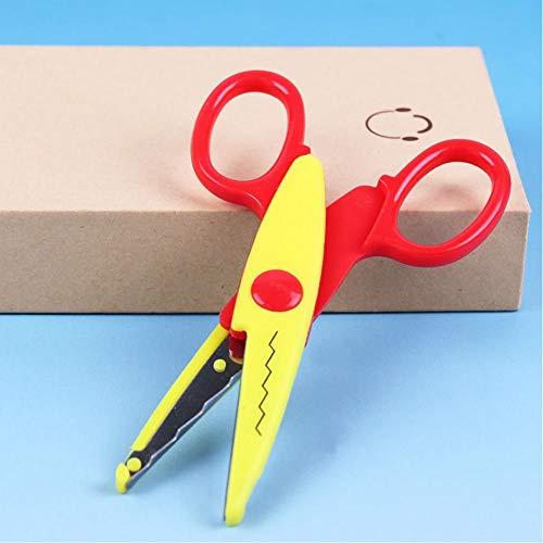 6 Patrones Tijeras de Seguridad Para Niños laciness Metal Y Plástico Diy Scrapbooking Foto Colores Tijeras Papel Encaje Diario decoración