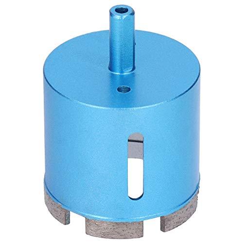 Broca de diamante Cortador de taladro manual eléctrico de alta eficiencia Herramienta de corte de mármol Herramientas de orificios de hormigón Azul para mármol Hormigón Cerámica 3 tamaños(60mm)