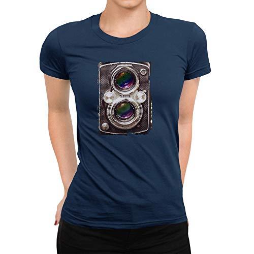 TeezoneDesign DamesT-shirt Yashica Camera Oude Mode Klassiek Mode Ontwerp Kleding Lijn