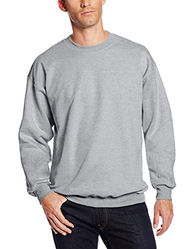 Hanes Men's Ultimate Heavyweight Fleece Sweatshirt, Light Steel, Medium