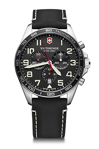 Victorinox Herren Field Force Chronograph - Swiss Made Analog Quarz Edelstahl Uhr 241852
