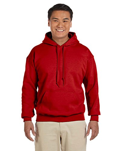 Gildan 18500 - Classic Fit Adult Hooded Sweatshirt Heavy Blend - First Quality - Red - Large